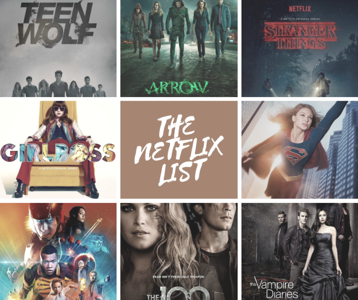 THE NETFLIX TV SHOW LIST